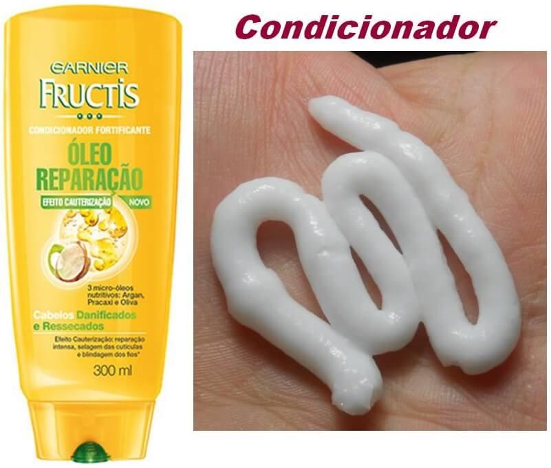 Shampoo e Condicionador Óleo Reparação Efeito Cauterização - Garnier
