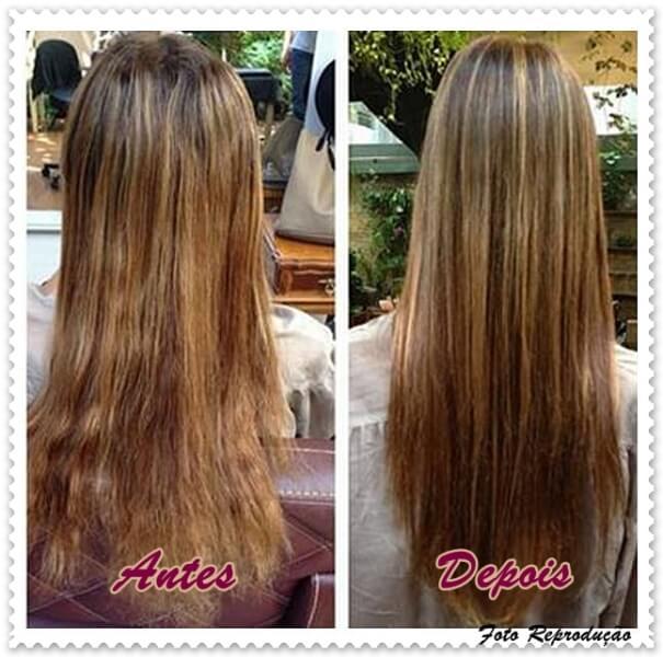 bordar cabelo antes e depois