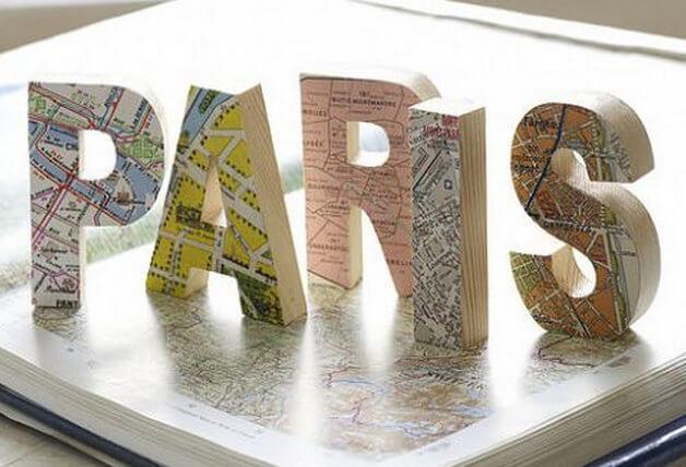 letras na decoração