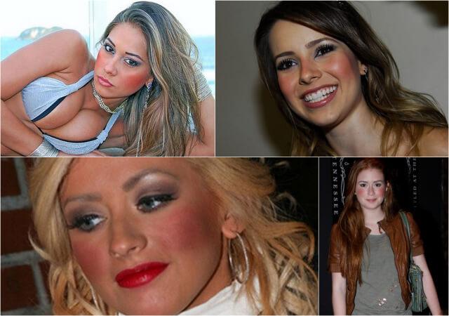 famosas erro maquiagem