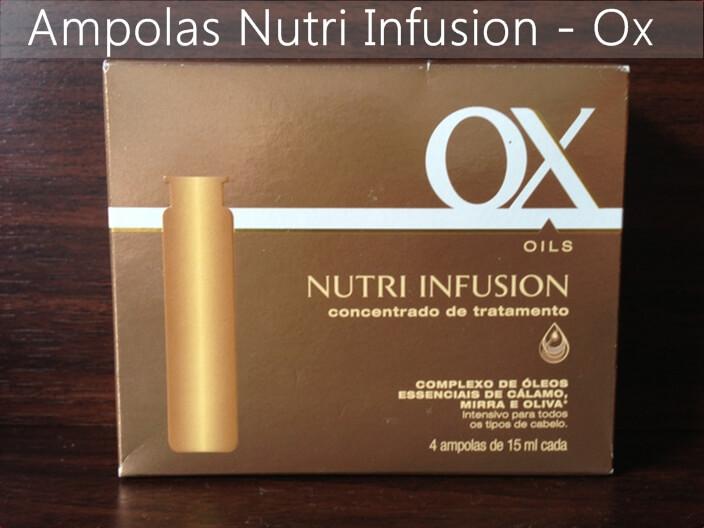 ampola de nutrição, ox cosméticos