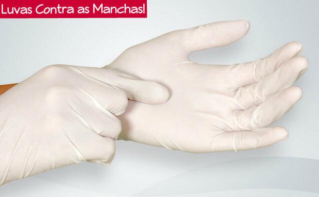 mãos protegidas