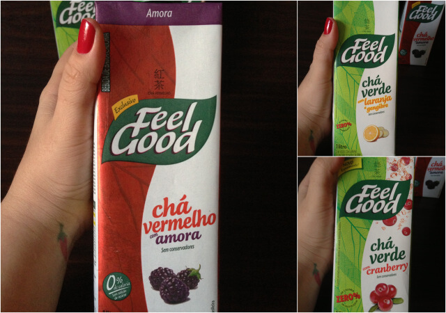chá verde, chá vermelho