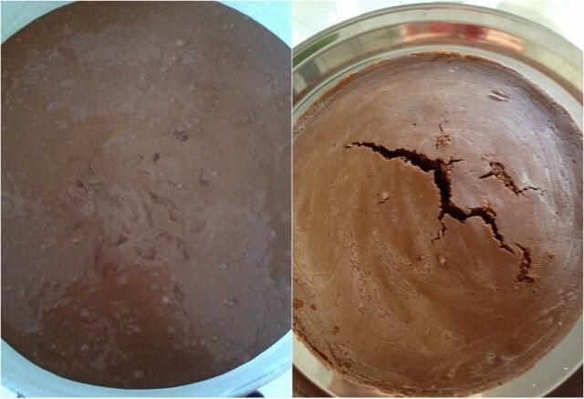 torta de chocolate molhada