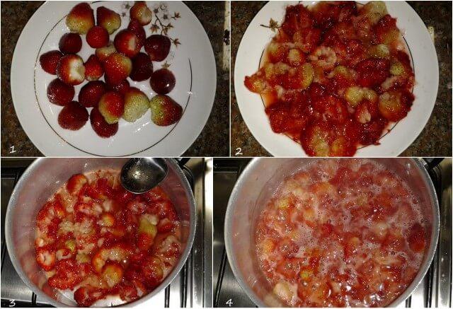 sopa de morangos