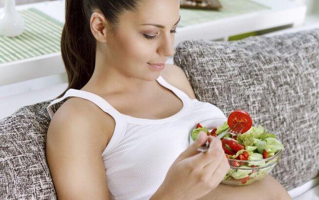 alimentação grávida
