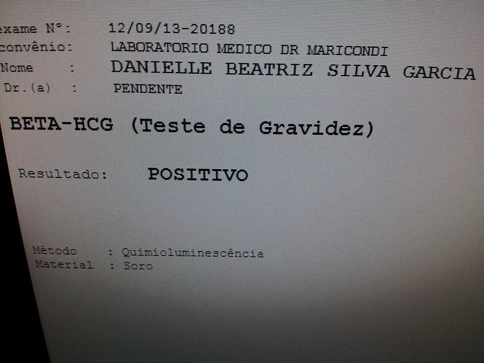 Exame de sangue positivo