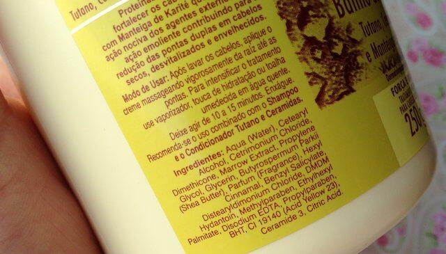 Banho de Creme Tutano, Ceramidas e Manteiga de Karité