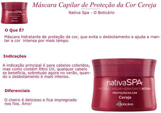 Máscara de Tratamento  Proteção da Cor Cereja - O Boticário