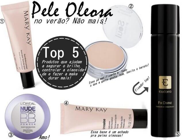 Produtos de Maquiagem Que Seguram a Oleosidade No Verão