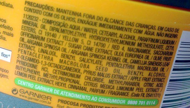 máscara óleo reparação garnier