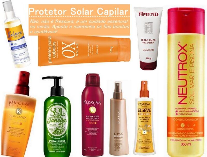 protetor solar cabelos
