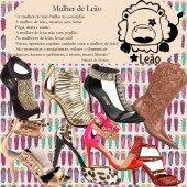 Sapatos da Mulher do Signo de Leão