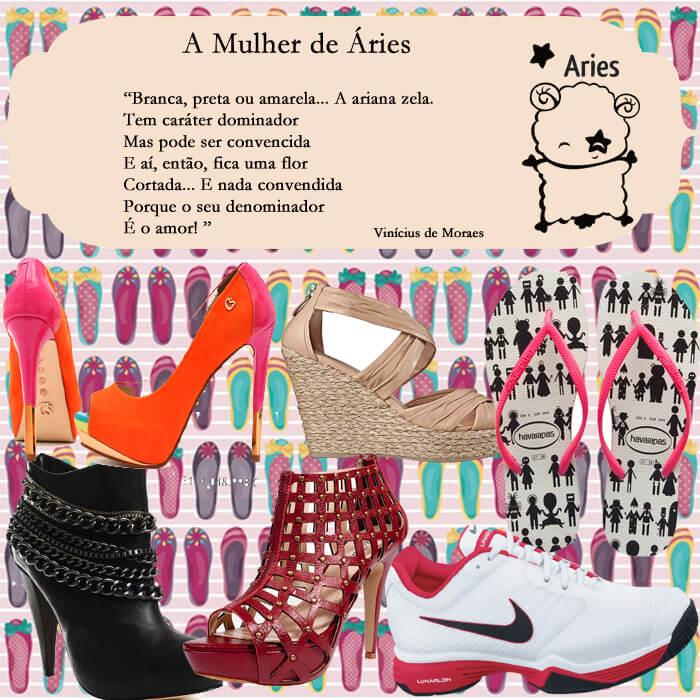 sapatos mulher de áries