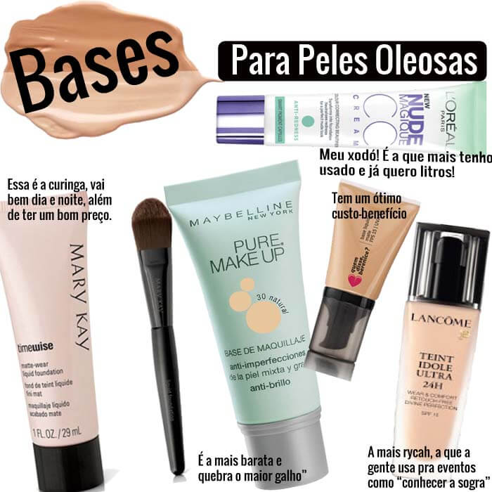 bases para peles oleosas