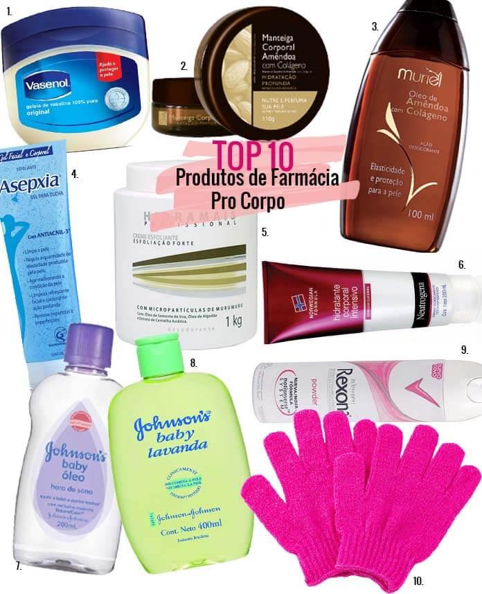 produtos de farmácia pro corpo