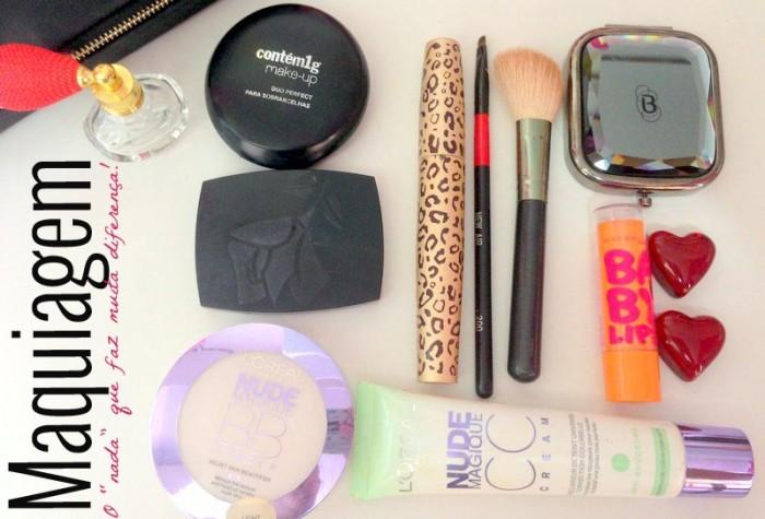 rotina diária e maquiagem