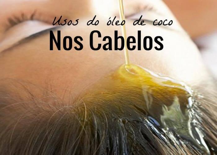 óleo de coco nos cabelos