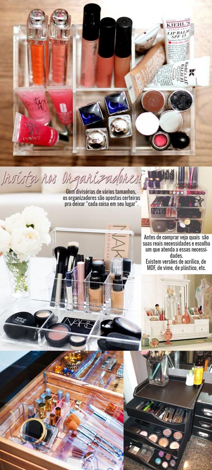 organizar maquiagens