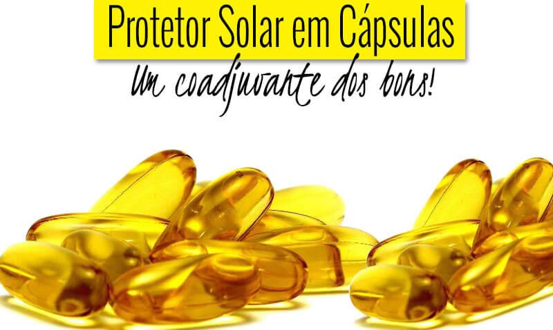 proteção solar em cápsulas