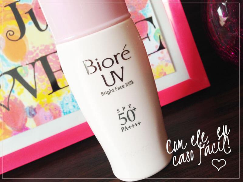 bioré bright face milk