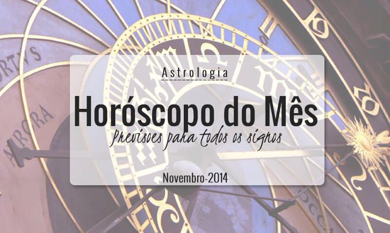 horóscopo do mês novembro 2014