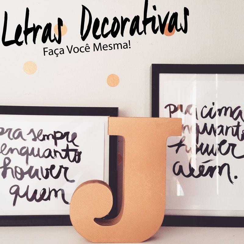 letras decorativas faça você mesma