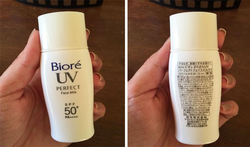 Bioré  Perfect Face Milk protetor solar para pele oleosa