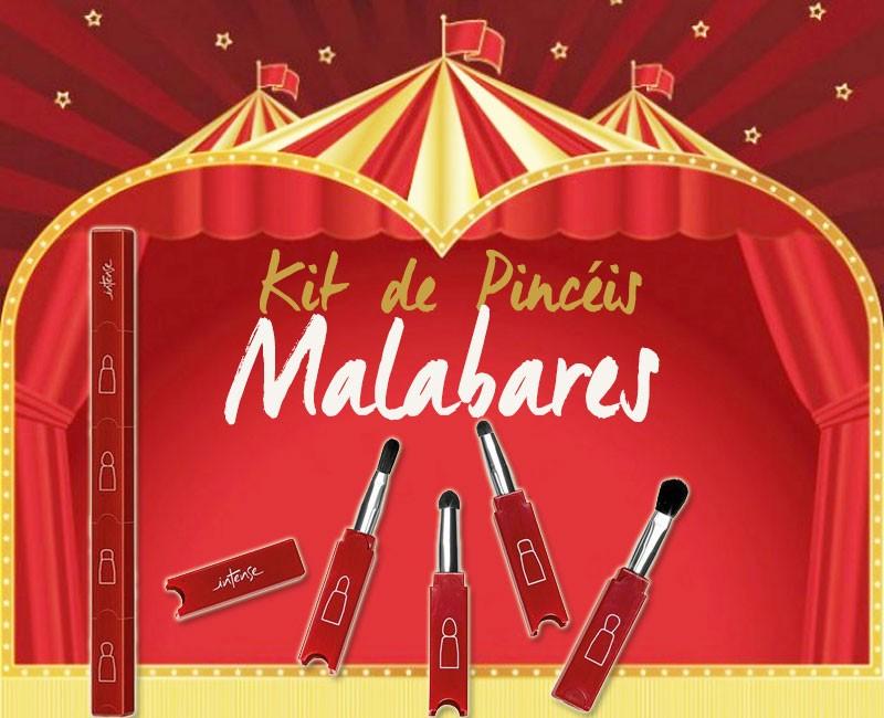 Kit de Pincéis Malabares Intense Circus, O Boticário: