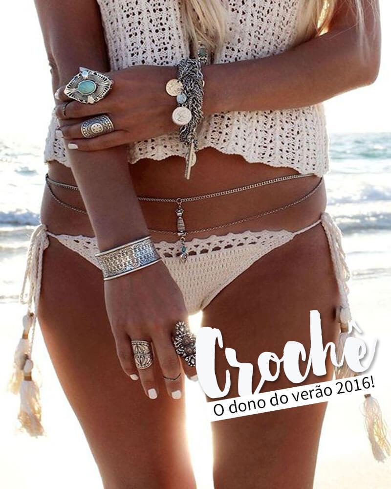 Moda Praia Verão 2016 crochê