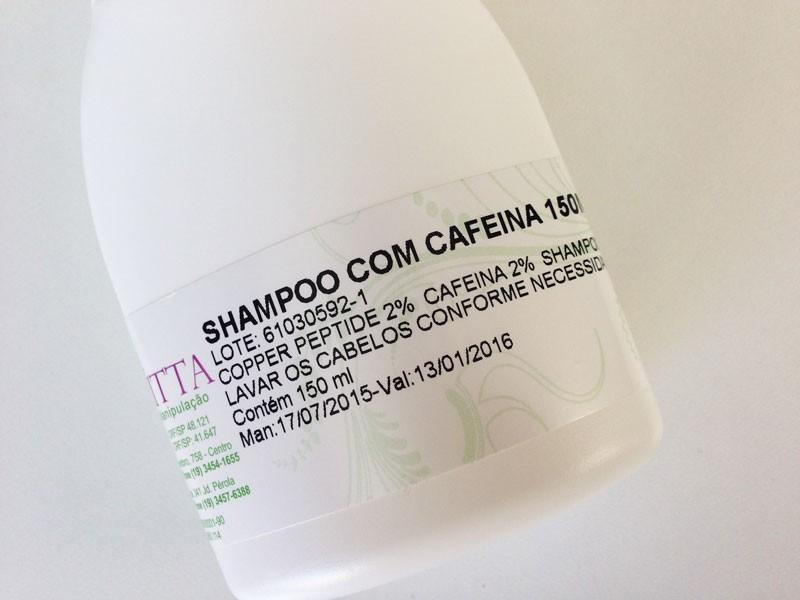 shampoo de cafeína