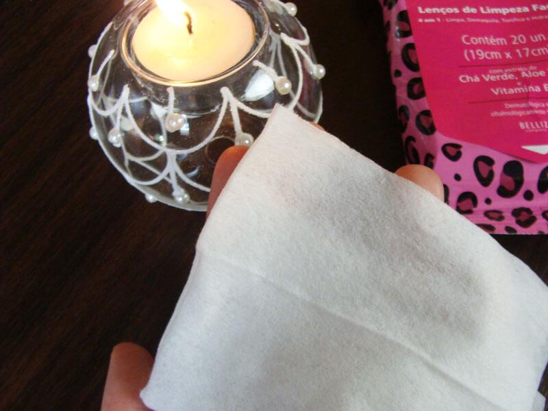Lenços de limpeza facial Ricca
