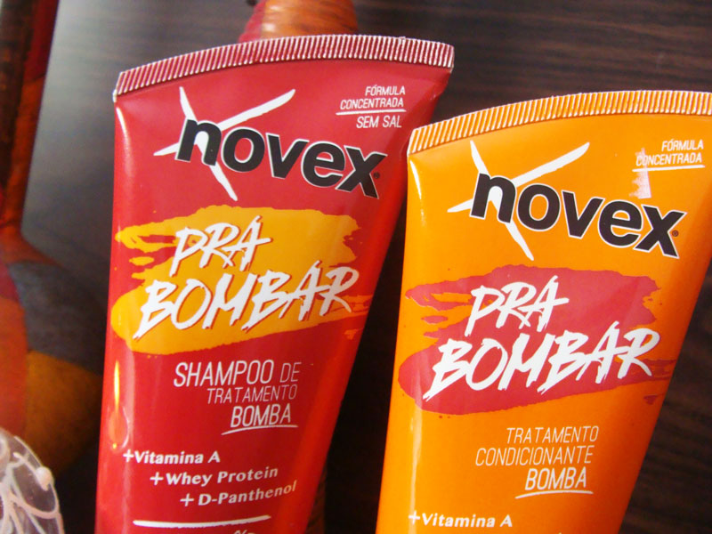Pra Bombar Shampoo e Condicionador Bomba Novex