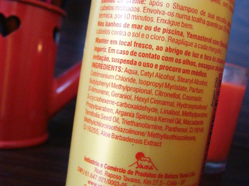 Yamasterol com óleo de argan