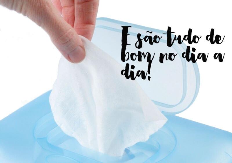 lenços umedecidos formas de usar