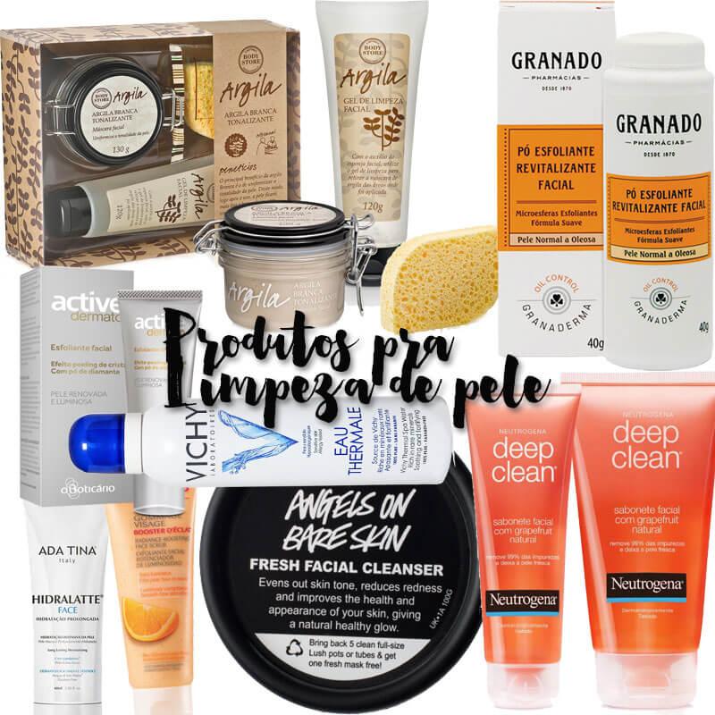 produtos para limpeza de pele caseira