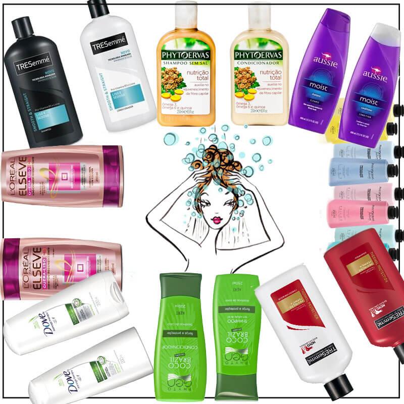 shampoo e condicionador podem ser de linhas diferentes