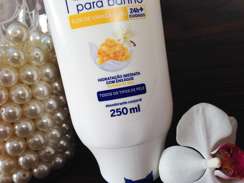 Hidratante para banho flor de vanilla & mel Nivea
