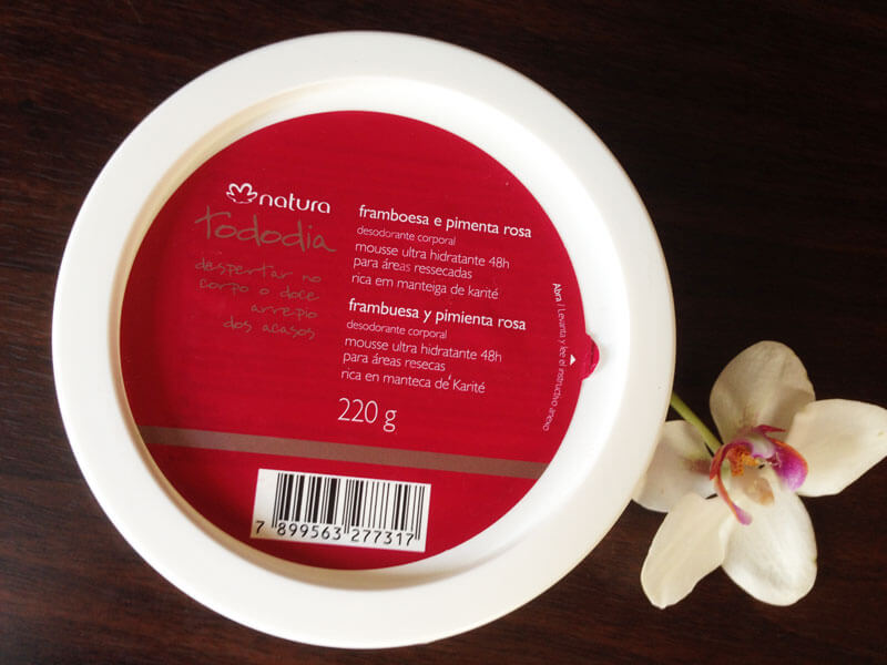 Mousse Ultra Hidratante Framboesa e Pimenta Rosa Natura Tododia