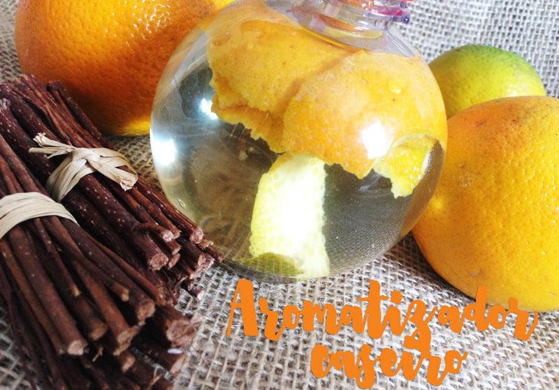 aromatizador caseiro de casca de laranja