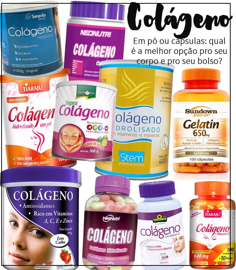 colágeno hidrolisado em pó colágeno em cápsulas
