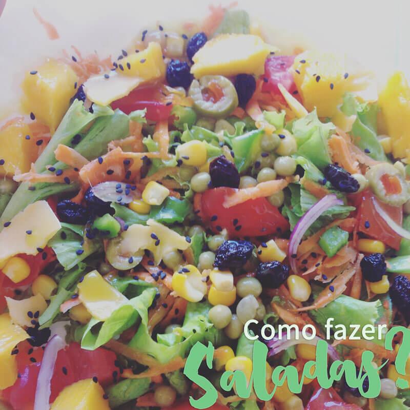 como fazer saladas