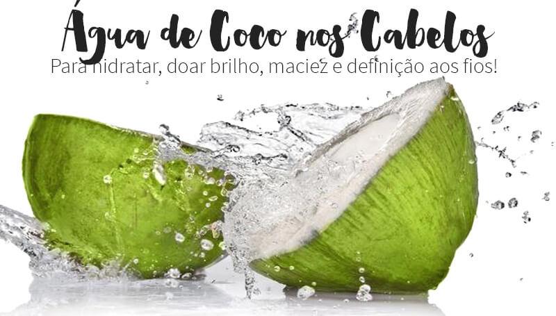Água de Coco nos Cabelos