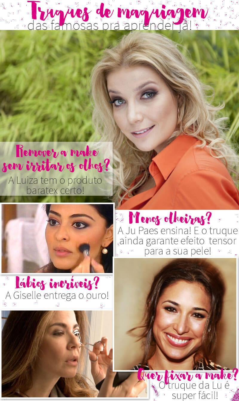 truques de maquiagem das famosas