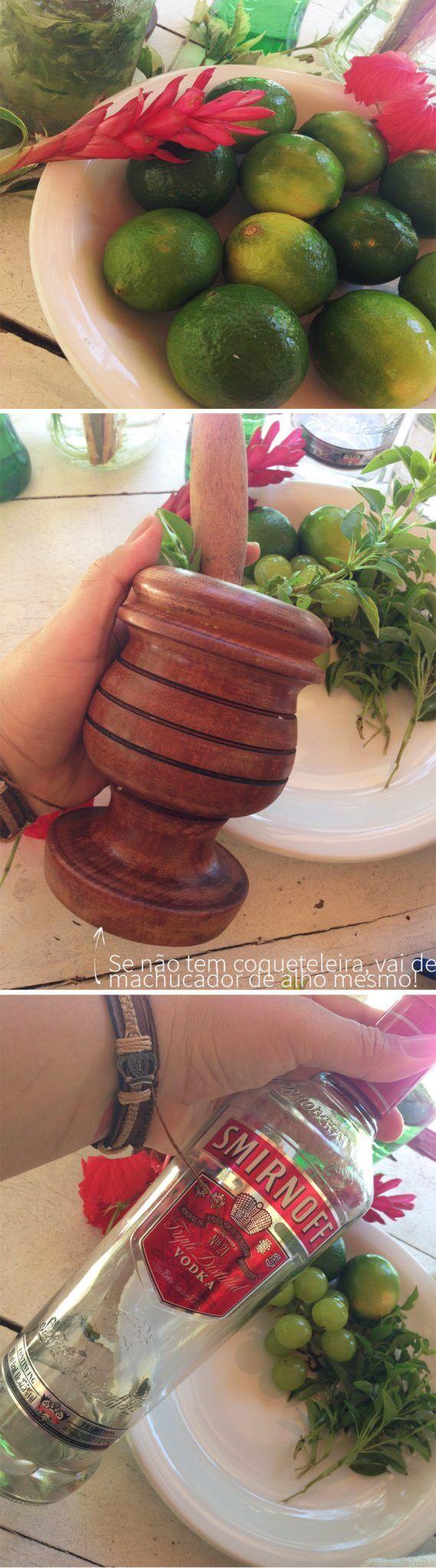 receita caipiroska de manjericão
