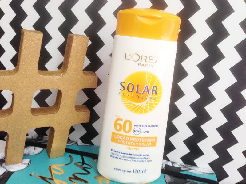resenha Loção Protetora Solar Expertise FPS 60  L´Oréal Paris juro valendo