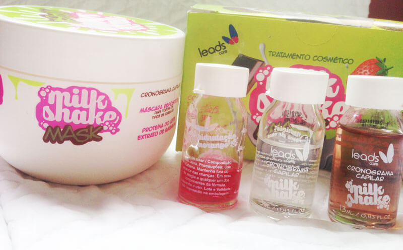 resenha Milk Shake Mask Cronograma Capilar Leads Care juro valendo