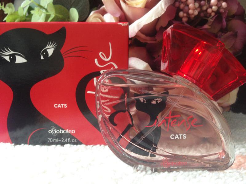 Colônia Intense Cats  Perfume do Boticário juro valendo ju lopes
