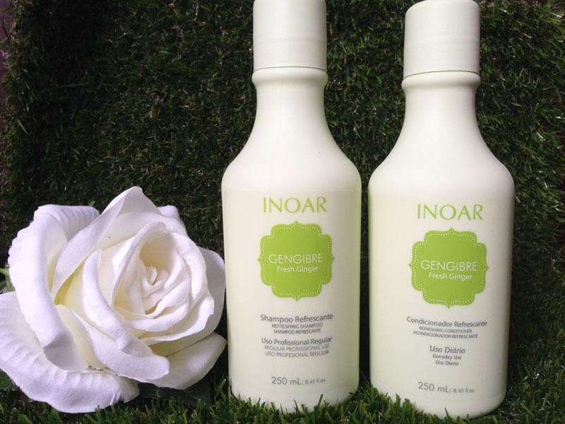 Fresh Ginger: Shampoo e Condicionador Gengibre Inoar