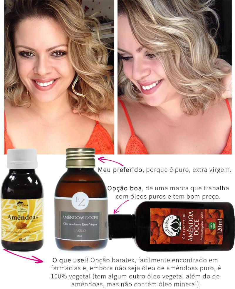 óleo de amêndoas no cabelo juro valendo - oleo de amendoas no cabelo